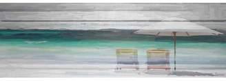 Parvez Taj ParvezTaj 'Striped Flag' by Painting Print on Natural Pine Wood