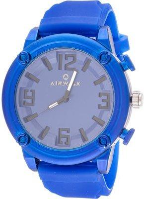 Airwalk エレガントRound Watch with Blueラバーストラップ
