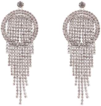 Nina Pave Crystal Fringe Drop Earrings