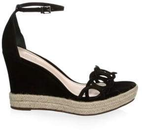 Schutz Suede Wedge Sandals