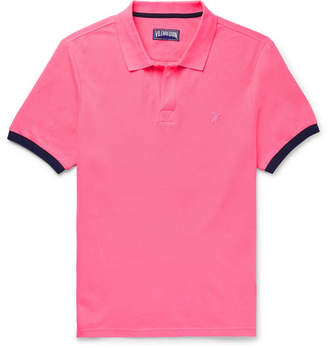 Vilebrequin Palatin Contrast-Tipped Cotton-Pique Polo Shirt - Men - Pink