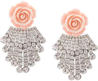 Dannijo Rose clip-on earrings