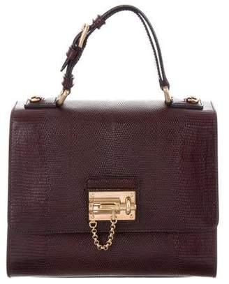 Dolce & Gabbana Embossed Monica Top Handle Bag