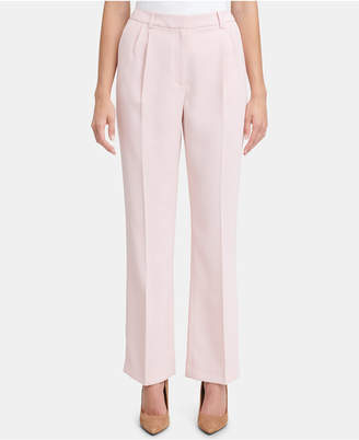 Tommy Hilfiger (トミー ヒルフィガー) - Tommy Hilfiger Pleated Crepe Wide-Leg Trouser Pants
