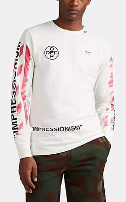 Off-White Off - White c/o Virgil Abloh Men's Logo Cotton T-Shirt - White