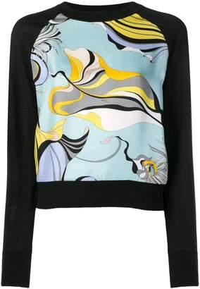 Emilio Pucci patterned front jumper