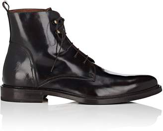 Antonio Maurizi MEN'S BURNISHED LEATHER LACE-UP BOOTS