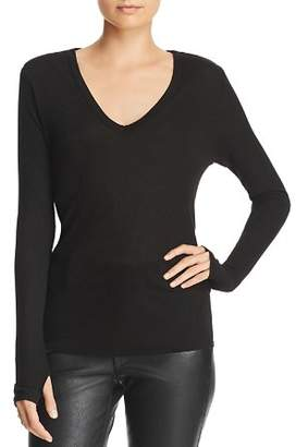 Enza Costa Ribbed V-Neck Top
