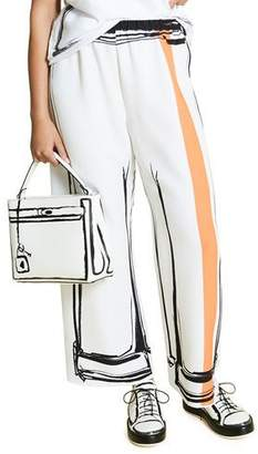 a0389edf6ab Marina Rinaldi Plus Size Abstract Charcoal-Print Wide-Leg Cady Pants
