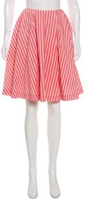 Jason Wu Striped A-Line Skirt