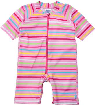 I Play One Piece Zip Sunsuit for Girls (18-24 Months Infant