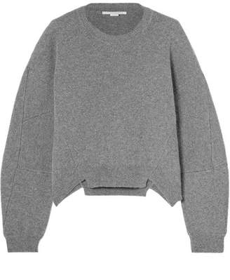 Stella McCartney Oversized Wool And Alpaca-blend Sweater - Gray