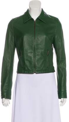 Dolce & Gabbana Leather Casual Jacket