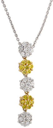 Charriol Heritage  18K Two-Tone 0.78 Ct. Tw. Diamond Cluster Drop Toggle Necklace