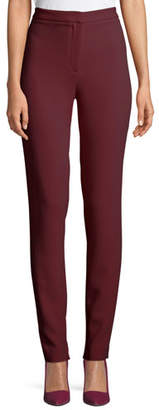 Elie Saab High-Waist Slim Skinny Cady Pants w/ Invisible Bottom Zipper