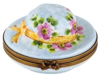 Limoges Porcelain Hat Trinket Box