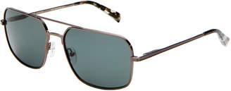 Ted Baker TBM026 Dark Gunmetal-Tone Navigator Sunglasses