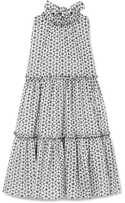 Lisa Marie Fernandez Erica Ruffled Broderie Anglaise Cotton Mini Dress - White