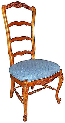 One Kings Lane Vintage Country French Ladderback Chair - House of Charm Antiques