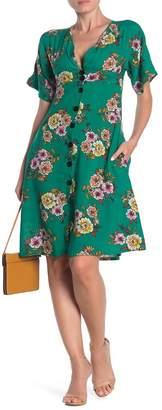 Velvet Torch Kimono Floral Midi Dress