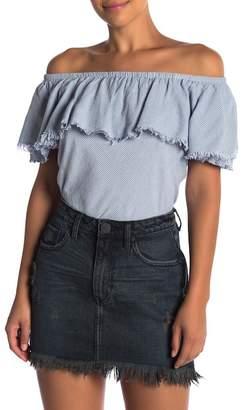 Velvet by Graham & Spencer Paloma Off-the-Shoulder Shirt