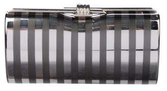 Rodo Striped Metal Clutch