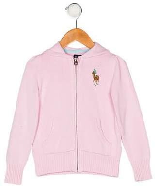 Ralph Lauren Girls' Hooded Sweater