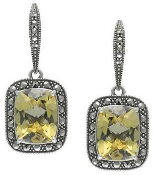 Suspicion Marcasite Sterling Quartz Earrings