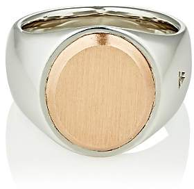 Tom Wood Women's Oval-Face Signet Ring - Silver