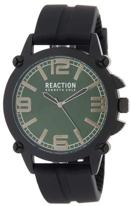Kenneth Cole Reaction Men's 3 Hand Matte Silicone Strap Watch, 49mm