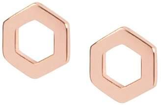 Matthew Calvin - Hexagon Studs Rose