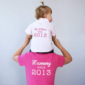 63400efd4 Sparks And Daughters Personalised Mummy And Baby Polo Shirt Set