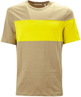 Helmut Lang Brown And Yellow Cotton T-shirt