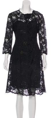 Oscar de la Renta Lace Dress Set