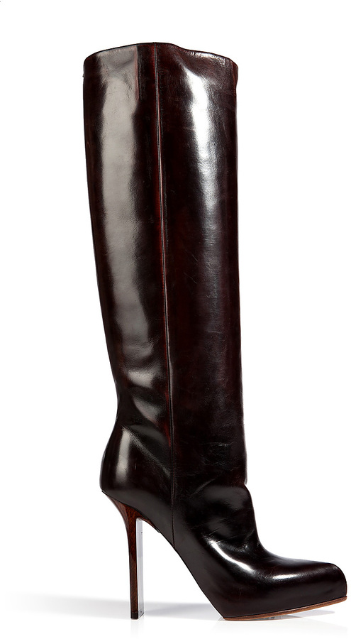 Maison Margiela Leather Boots with Flattened High Heel