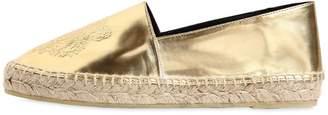 Kenzo 20mm Metallic Faux Leather Espadrilles