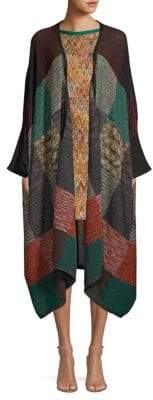 Missoni Long Mohair-Blend Knit Shawl Cardigan