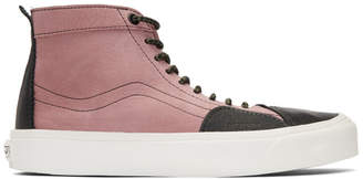 Vans Pink and Black Taka Hayashi Edition TH SK8 Skool LX High-Top Sneakers