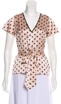 Temperley London Silk Short Sleeve Top w/ Tags