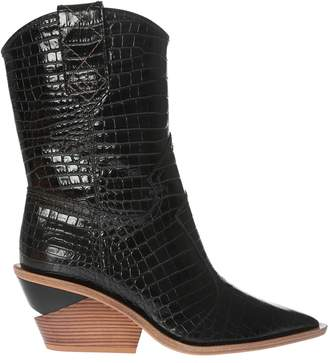 Fendi Crocodile Effect Boots
