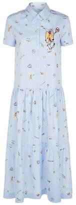 Mira Mikati Venice Beach Striped Shirt Dress