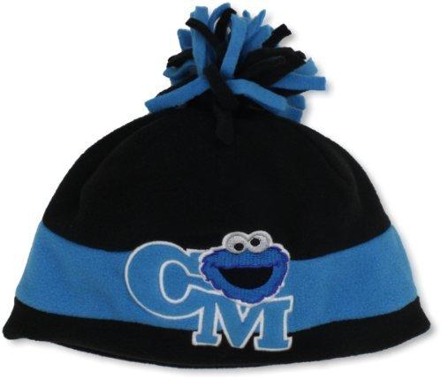 Sesame Street Headwear Boys 2-7 Cookie Monster Fleece Stripe Toque With Pom Pom
