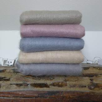 Plum & Ivory Mohair Throw