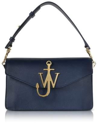 J.W.Anderson Navy Blue Leather Logo Purse