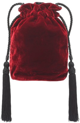 Hunting Season The Tula drawstring velvet clutch