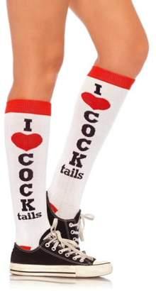 Leg Avenue Women's I Love Cocktails Knee Socks, One Size