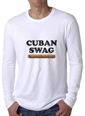Hollywood Thread Cuban Swag - Cool Cigar Graphic Design Men's Long Sleeve T-Shirt