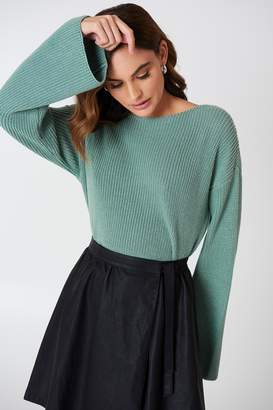 NA-KD Na Kd Cropped Long Sleeve Knitted Sweater