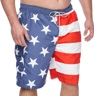 Co THE FOUNDRY SUPPLY The Foundry Big & Tall Supply Pattern Swim Shorts Big and Tall