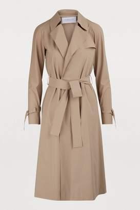 Harris Wharf London Raglan-sleeved trench coat